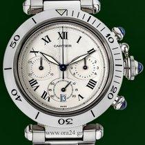 カルティエ (Cartier) Pasha 38mm Chronograph Date Stainless Steel