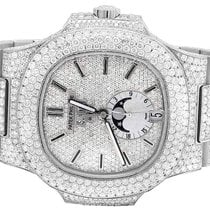 Patek Philippe Steel Mens  Nautilus 5726/1A Pave Set VS...