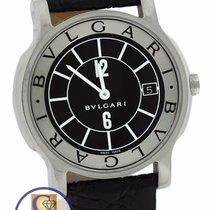 Bulgari Solotempo ST 35 S Black White Stainless Steel 35mm Date