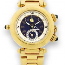 Cartier 30011 Pasha Moon Phase w/Alarm Function - 18KT Yellow...