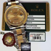 Rolex Datejust II 18k Yellow Gold Steel & Diamond Mens...