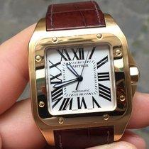 Cartier SANTOS 100 XL large oro gold full set