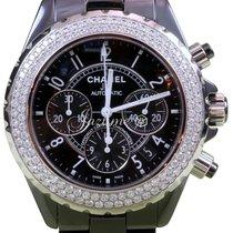 Chanel J12 H1009 Black Ceramic Diamond Chronograph 41mm...