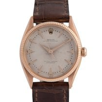 Rolex 18k Pink Gold Oyster Perpetual, Dauphine Hands, Ref: 6565