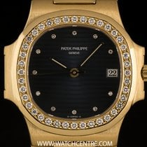 파텍필립 (Patek Philippe) 18k Y/Gold Black Dial Diamond Set...