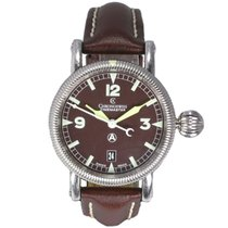 Chronoswiss Timemaster Stainless Steel Leather Strap Watch CH2833