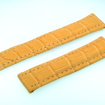 Breitling Tradema Band 20mm Croco Gelb Yellow Strap Für...
