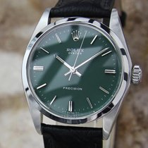 Rolex Mens 1967 Oyster Precision Luxury 6426 34MM Manual Green...