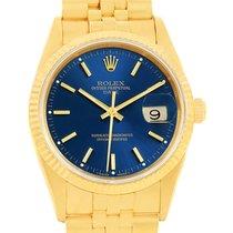 Rolex Date 18k Yellow Gold Jubilee Bracelet Mens Watch 15238