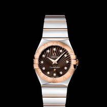 Omega Constellation quartz  27 mm Steel/Red Gold Brown Dial R