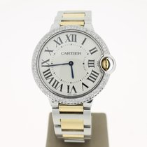 Cartier Ballon Bleu Steel/Gold 36mm (B&P2013) AftersetDiam...