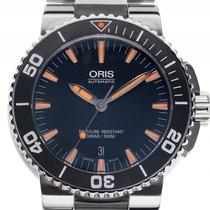 Oris Aquis Date Stahl Automatik Armband Stahl 43mm Box&Bes...