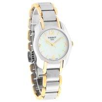 Tissot T-Wave Ladies MOP TwoTone Swiss Quartz Watch T023.210.2...