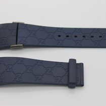 Gucci 26mm Genuine Navy Blue Replacement Rubber Strap Men'...