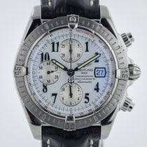 Breitling Chronomat Evolution, Mens, Stainless Steel, Leather...