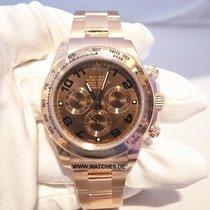 Rolex Cosmograph Daytona Rose Gold Chronograph Chocolate Dial...