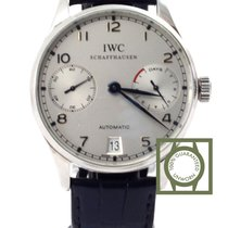 IWC Portuguese Automatic Steel Blue 7 Days Power Reserve NEW