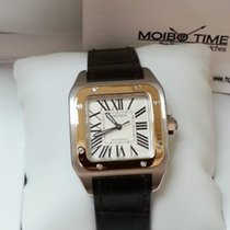 Cartier W20107X7 Santos 100 18K Pink Gold Steel Medium Size [NEW]