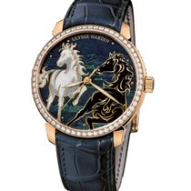 Ulysse Nardin Classico Enamel Rose Gold with Diamond Watch