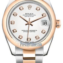Rolex Datejust 31mm Stainless Steel and Rose Gold 178241 White...