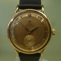 Omega vintage 1944 calatrava CENTENARY gold 18ct auto bumper...