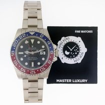 Rolex 116719BLRO GMT Master II White Gold Blue and Red Bezel