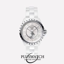 Chanel J12-365  H4345  White Ceramic and Diamonds T