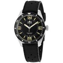 Oris Diver 65 Black Dial Rubber Strap Mens Watch 73377074064RS