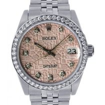 Rolex Datejust Men's 36mm Pink Dial Stainless And Jubilee...