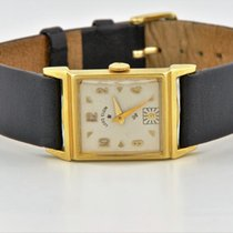 Elgin Solid 14k Yellow Gold Manual Wind White Dial Watch