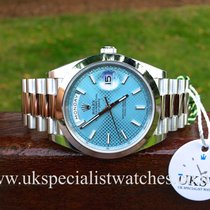 勞力士 (Rolex) Day-Date 40 Platinum – Ice Blue Dial – 228206 –...