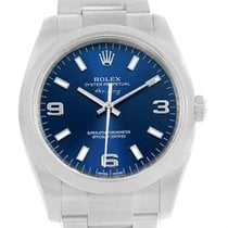 Rolex Air King Blue Dial Steel Automatic Mens Watch 114200 Box...