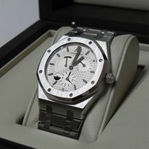Audemars Piguet Royal oak dual time stainless steel white dial
