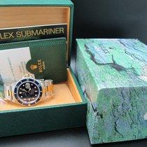 Rolex SUBMARINER 16613 2-Tone Purple Dial Full Set