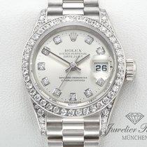 Rolex Datejust Weissgold 750 Diamanten Brillanten Lady Date Just