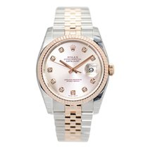 勞力士 (Rolex) Datejust 18k Rose Gold And Steel Pink Automatic...