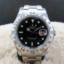 Rolex EXPLORER 2 16570 with Black Dial (No Hole Case)