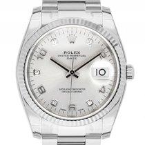 Rolex Oyster Perpetual Date Stahl Weißgold Diamond Automatik...