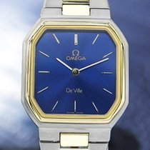 Omega Swiss Lady Deville Gold Plated Stainless Quartz Dress...