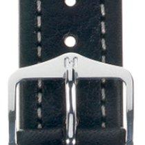 Hirsch Uhrenarmband Leder Buffalo schwarz M 11350250-2-18 18mm