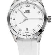 Oris Artix GT Date, Diamonds, White Dial, Rubber Bracelet