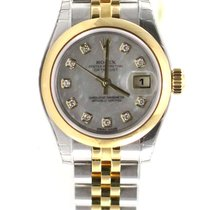 Rolex Datejust ladies 26mm jubilee yellow gold diamond 179163 NEW