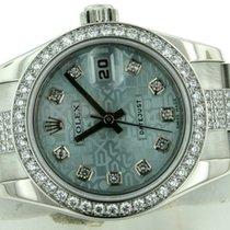Rolex Ladies President Platinum 179136 Factory Diamond Band...