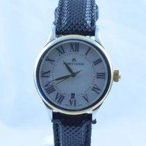 艾美 (Maurice Lacroix) Damen Uhr 25mm Stahl Vergoldet  Perlmutt Rar