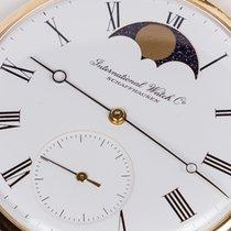 IWC 5250 Moon phase, Yellow gold pocket watch, amazing FULL SET