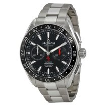 Alpina 4 Chronograph Automatic Black Dial