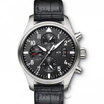 IWC Pilot's Watch Chronograph Black/Leather - IW377701