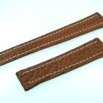 Breitling Band 19mm Brown Shark Strap Correa Ib19-18