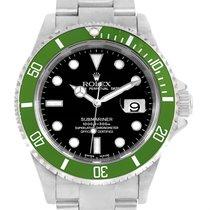 Rolex Submariner Green Bezel 50th Anniversary Flat 4 Watch...