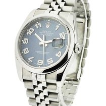 Rolex Used 116200_blue_wave_used Mens Steel Datejust with New...